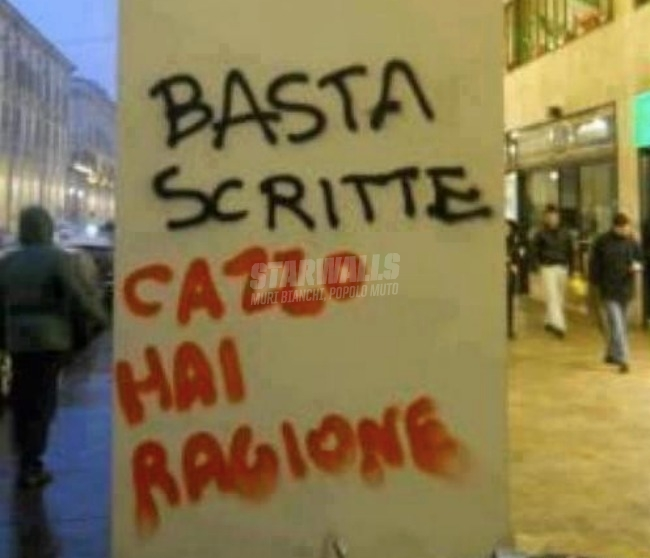 Scritte sui Muri Fermatevi