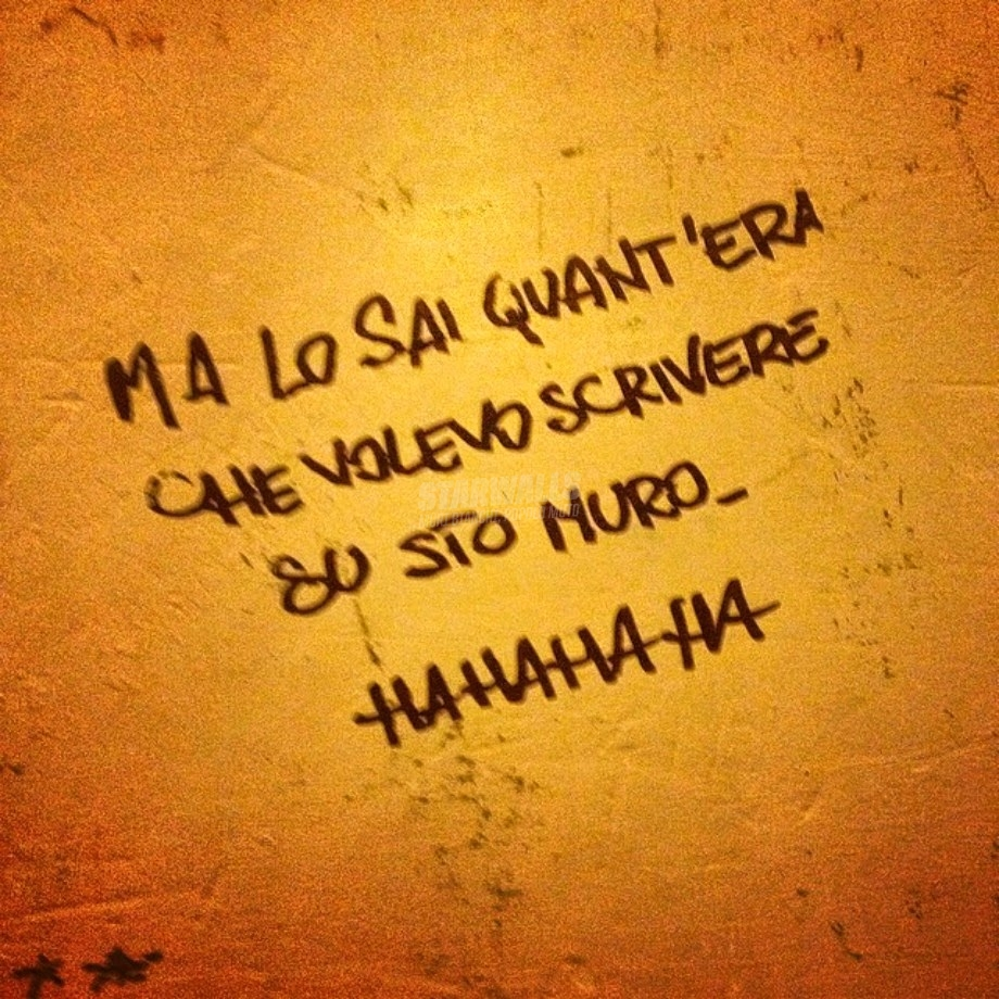 Scritte sui Muri Ce l'ho fatta