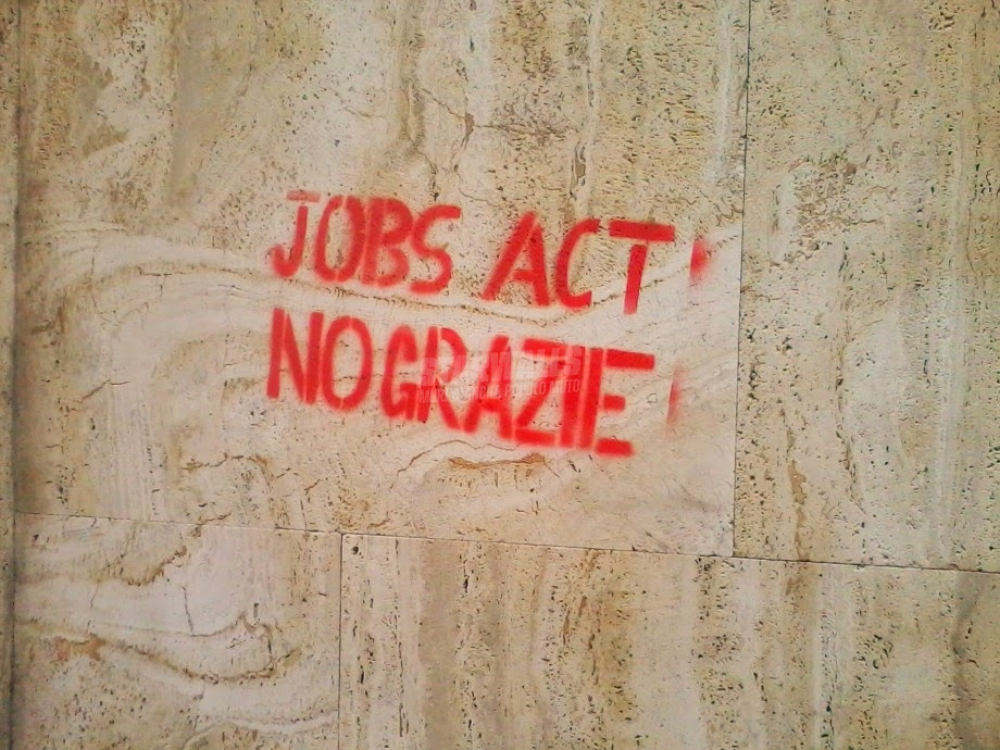 Scritte sui Muri No allo sfruttamento legalizzato