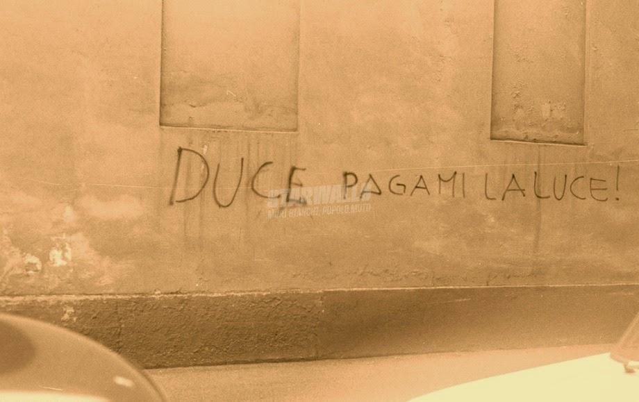 Scritte sui Muri Il camerata in bolletta