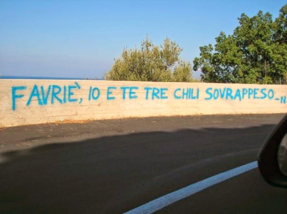 Scritte sui Muri Amore ipercalorico