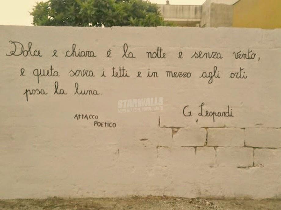 Scritte sui Muri Attacco poetico