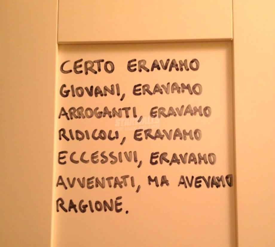 Scritte sui Muri Alla fine ...