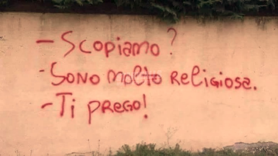 Scritte sui Muri In ginocchio da te