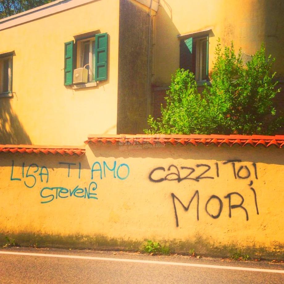 Scritte sui Muri Evviva la sincerità