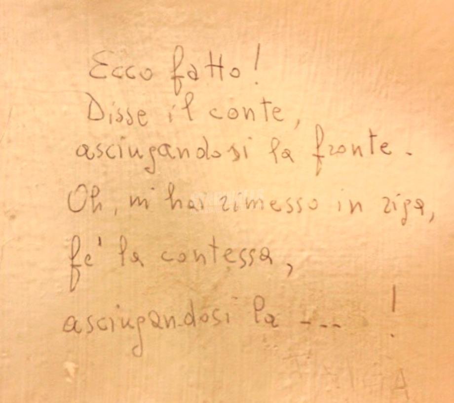Scritte sui Muri Filastrocca
