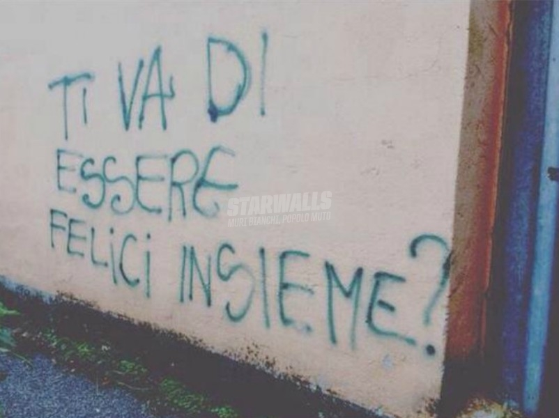 Scritte sui Muri Io e te, tu ed io