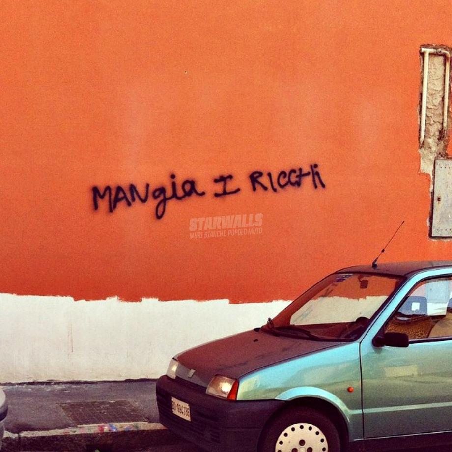 Scritte sui Muri O loro mangeranno te