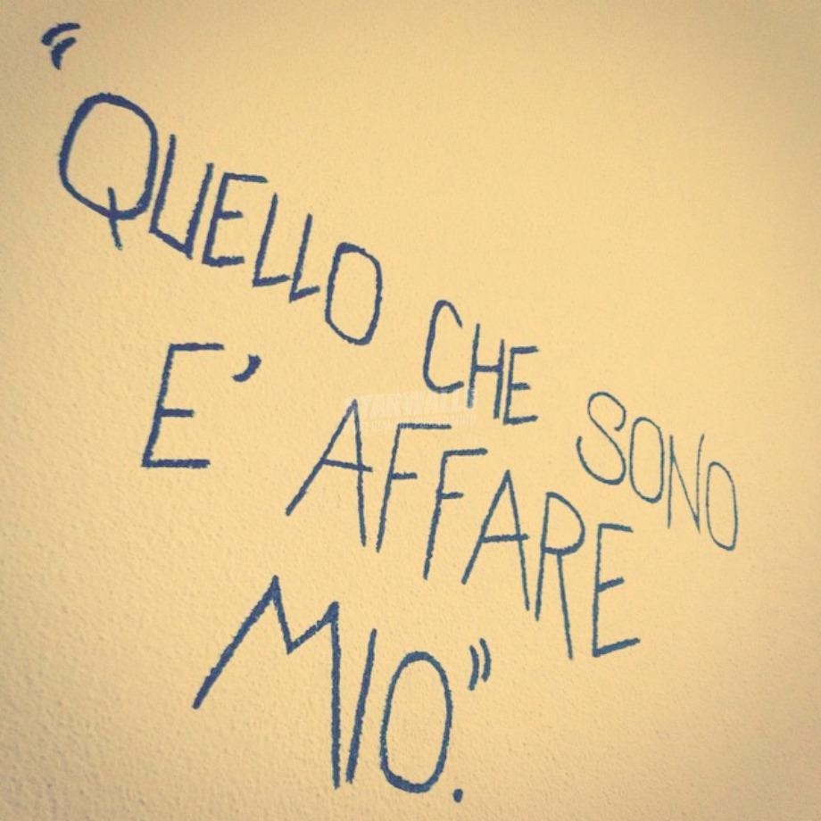 Scritte sui Muri Sono solo fatti miei