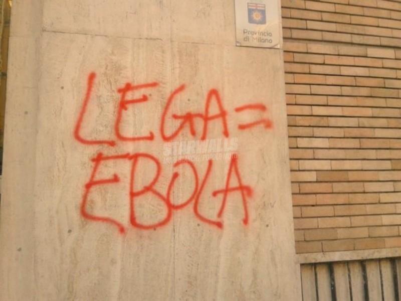 Scritte sui Muri Lega ladrona Milano non perdona