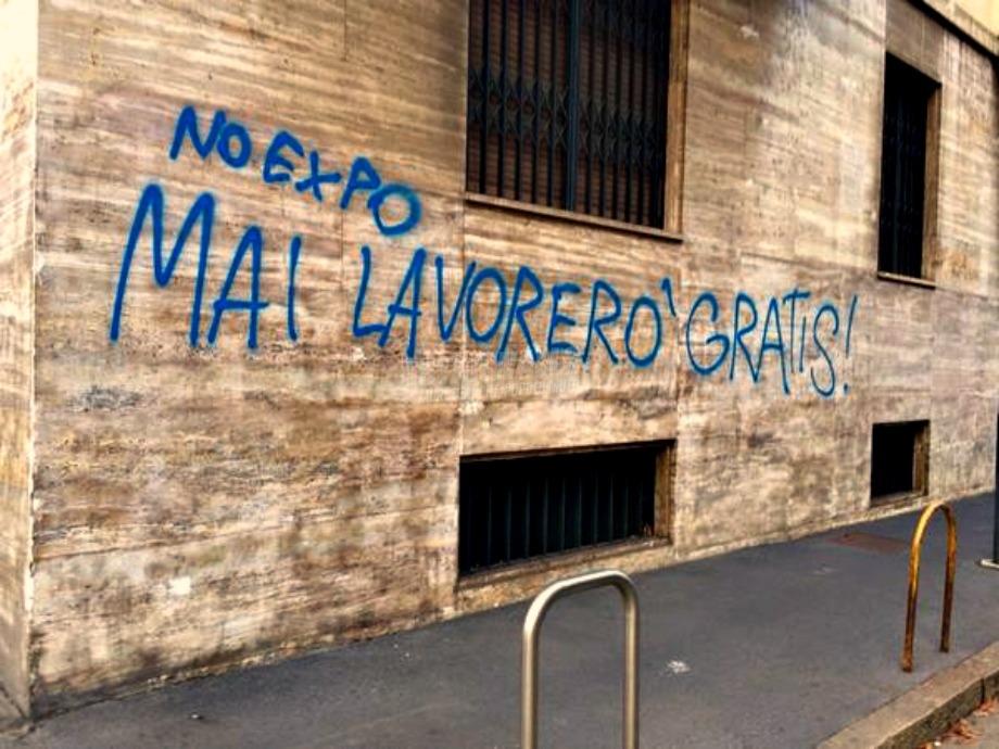 Scritte sui Muri No Expo 2015