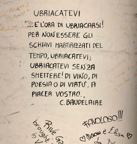 Scritte sui Muri Ubriacatevi !