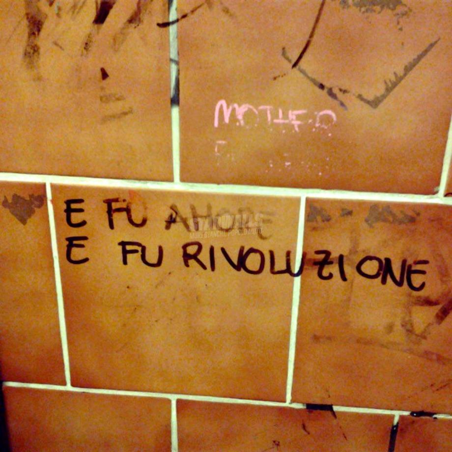 Scritte sui Muri E fu