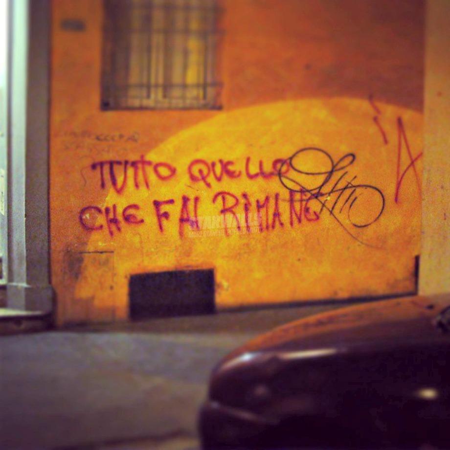 Scritte sui Muri E torna indietro