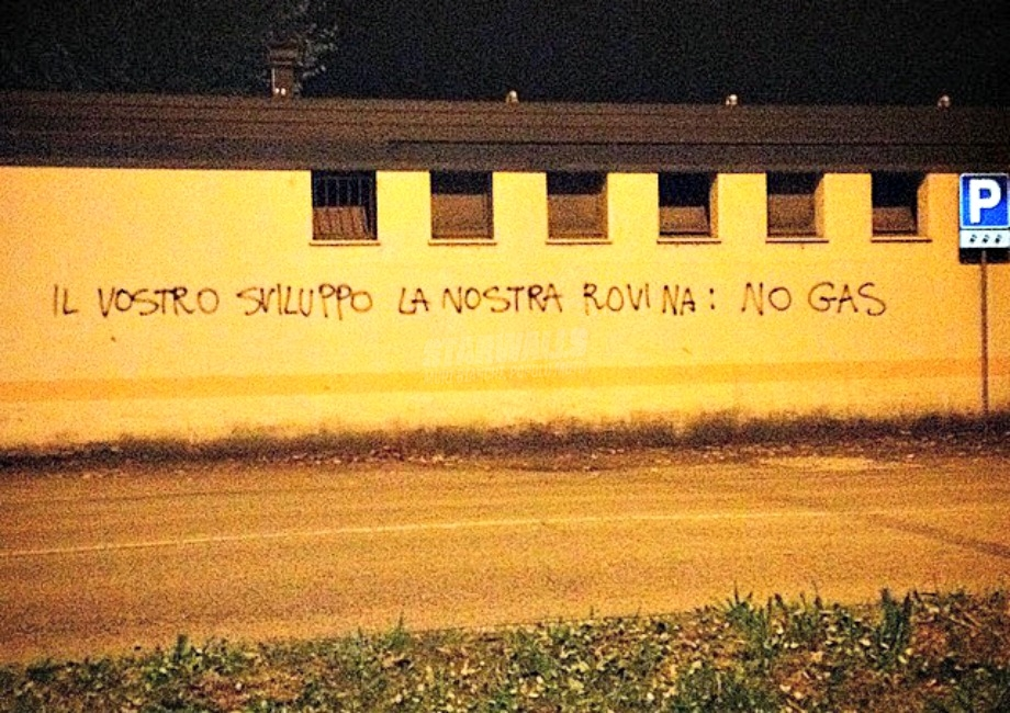 Scritte sui Muri No gas