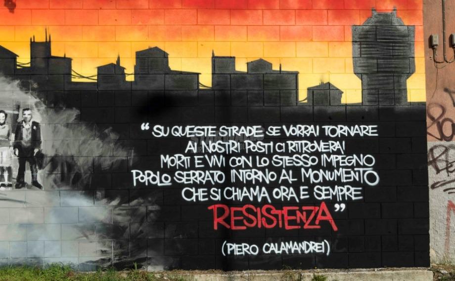 Scritte sui Muri Niguarda antifascista