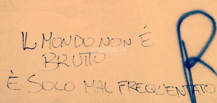 Scritte sui Muri Fate attenzione