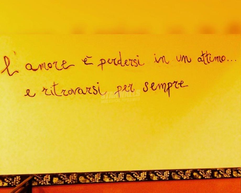 Scritte sui Muri L'amore è ...