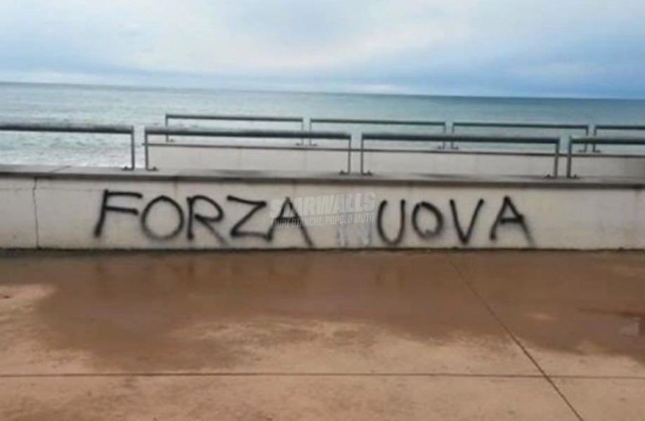 Scritte sui Muri Lungomare antifa