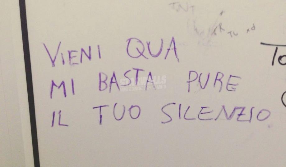 Scritte sui Muri Mi piaci quando taci