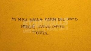 Scritte sui Muri Tu da che parte stai?