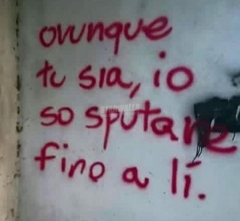 Scritte sui Muri Non mi scappi