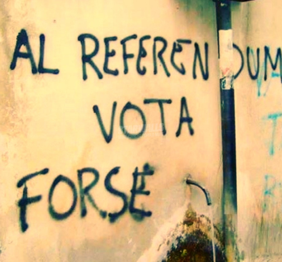 Scritte sui Muri Appello al corpo elettorale