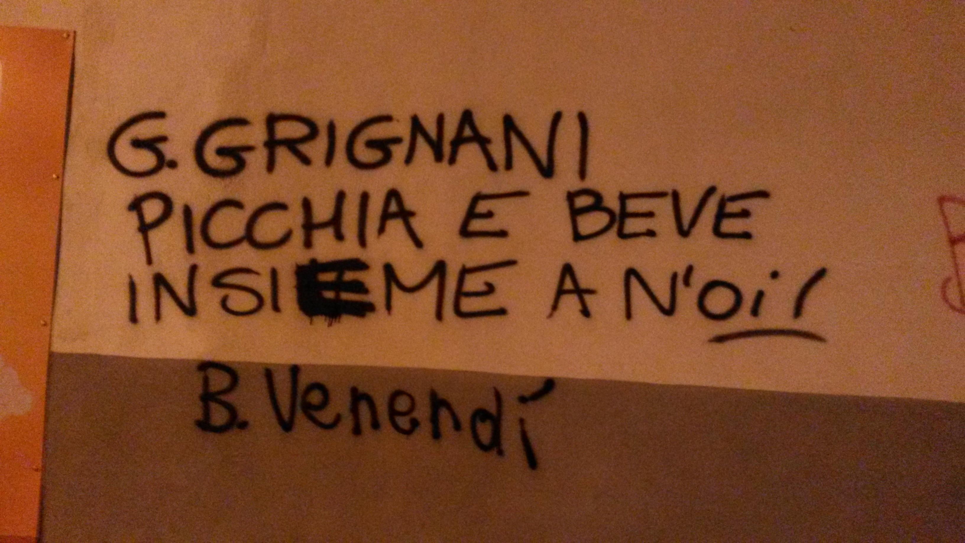 Scritte sui Muri Gianluca uno di noi