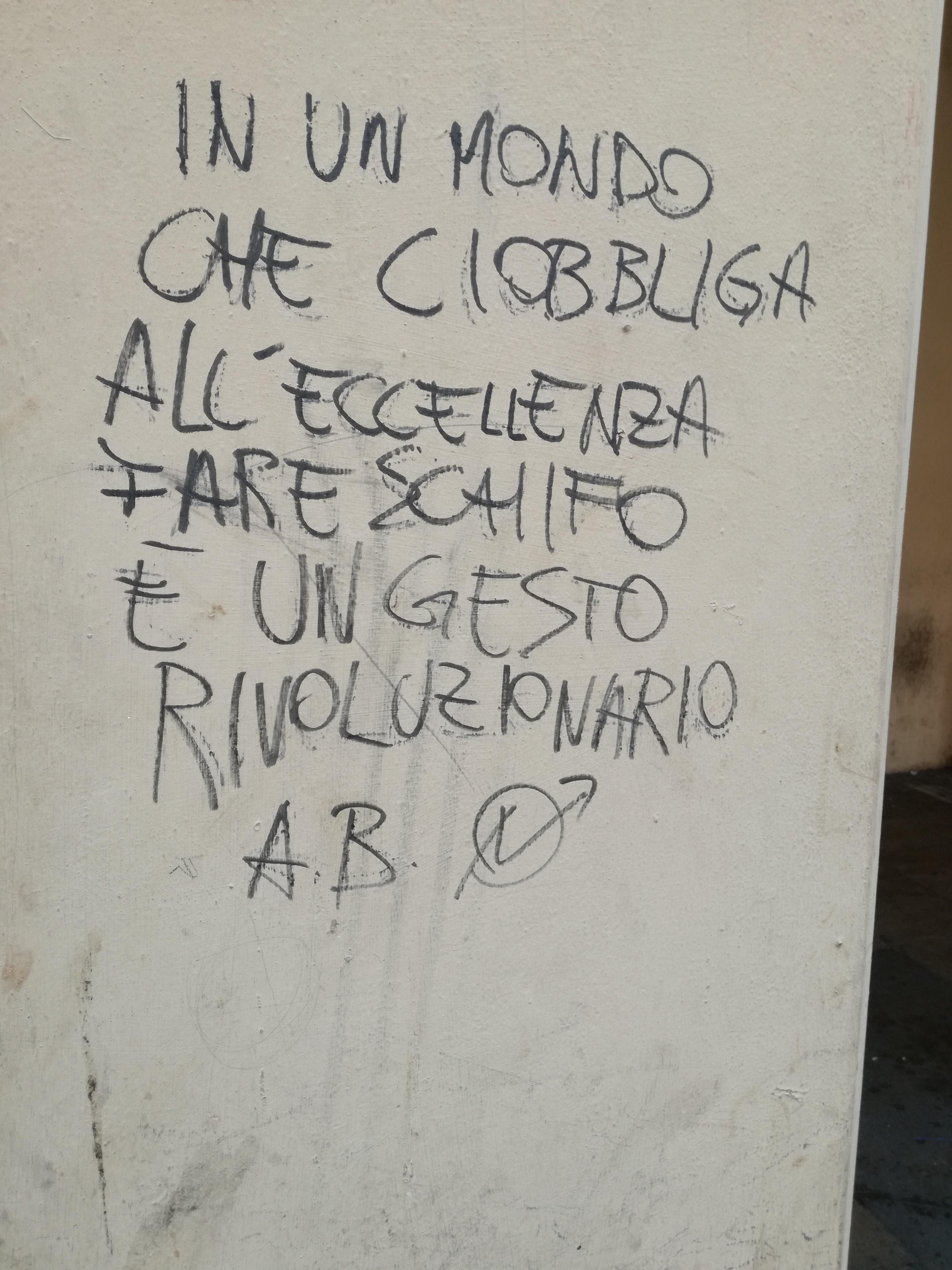 Scritte sui Muri Gesti rivoluzionari