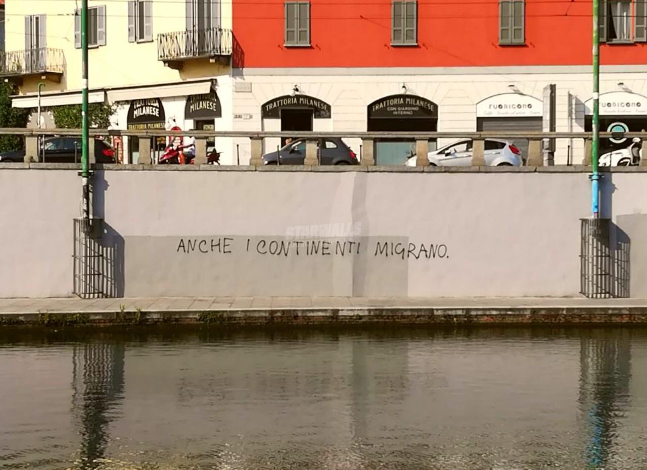 Scritte sui Muri Nessuno è clandestino