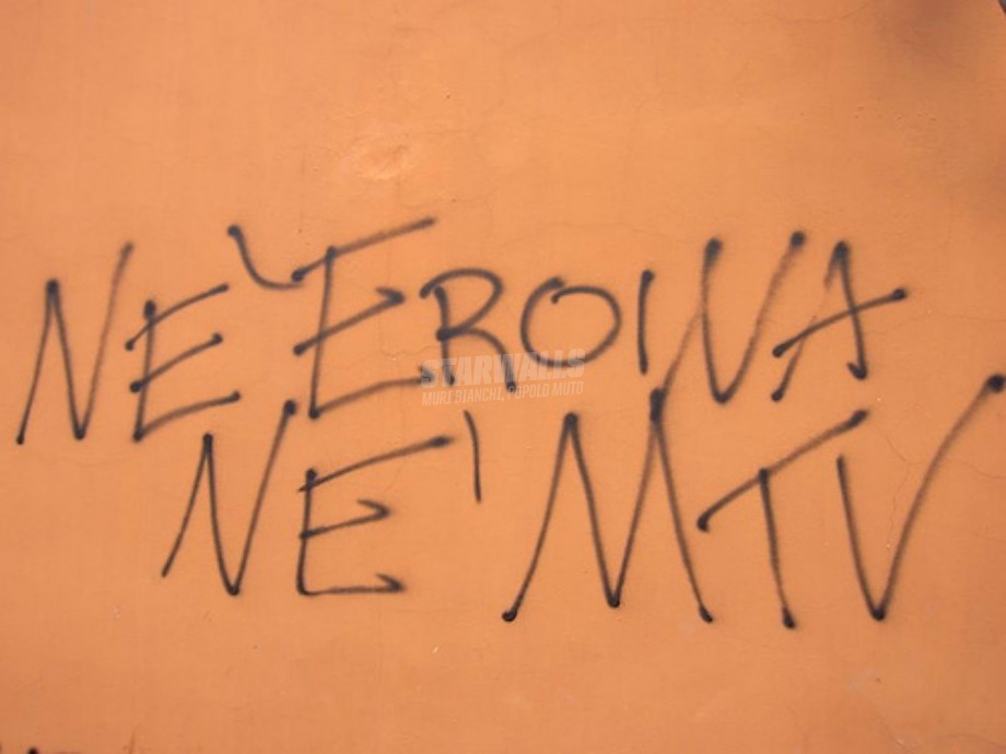 Scritte sui Muri No drugs
