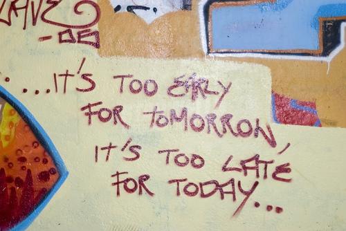 Scritte sui Muri fuori orario