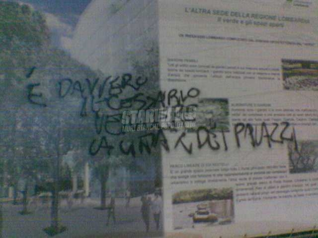 Scritte sui Muri In difesa di Milano