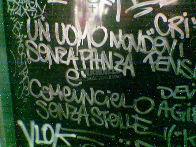 Scritte sui Muri l'importanza della panza