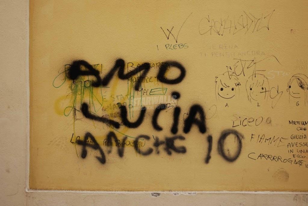 Scritte sui Muri triangolo ..