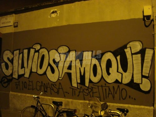 Scritte sui Muri Ciao Silvio