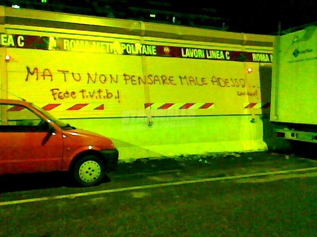 Scritte sui Muri non ti fare film ..
