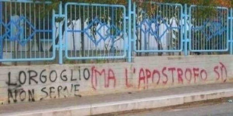 Scritte sui Muri Lapostrofo