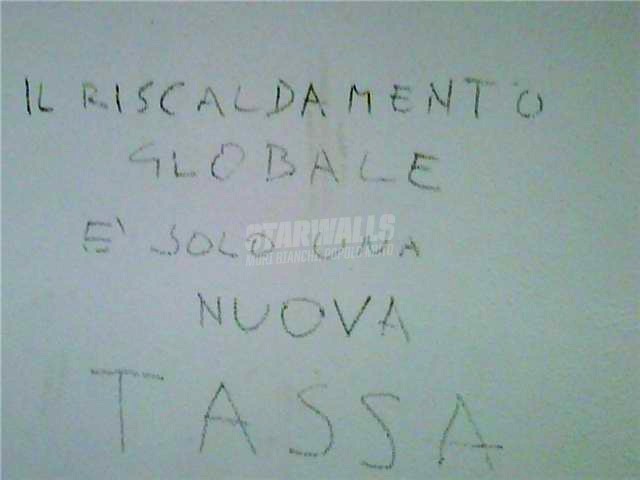 Scritte sui Muri Global warming