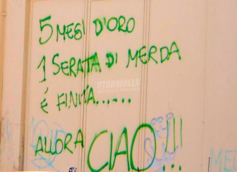 Scritte sui Muri La fine improvvisa di un amore