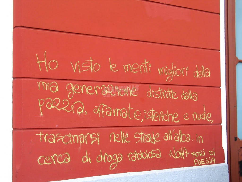 Scritte sui Muri Fiori di poesia beat