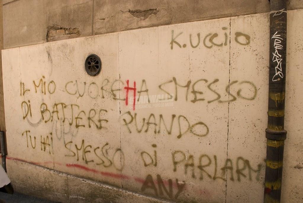 Scritte sui Muri Il mio cuore fa ciock