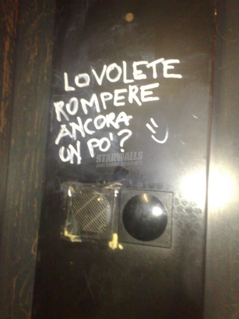 Scritte sui Muri Dilemmi vandalici