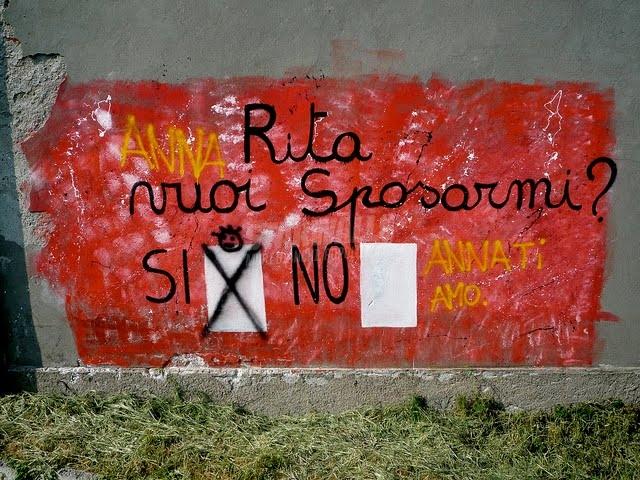 Scritte sui Muri Tempo di referendum