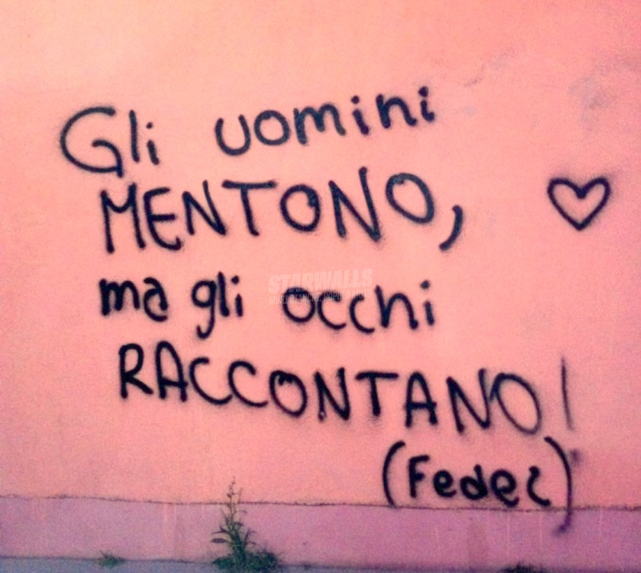 Scritte sui Muri Ti vorrei dire sui muri
