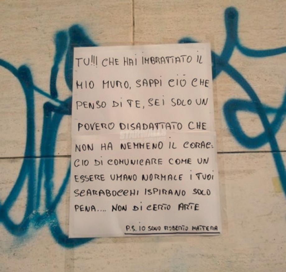 Scritte sui Muri Muri disadattati