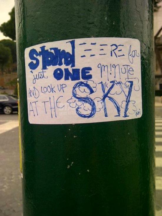 Scritte sui Muri Buongiorno Roma