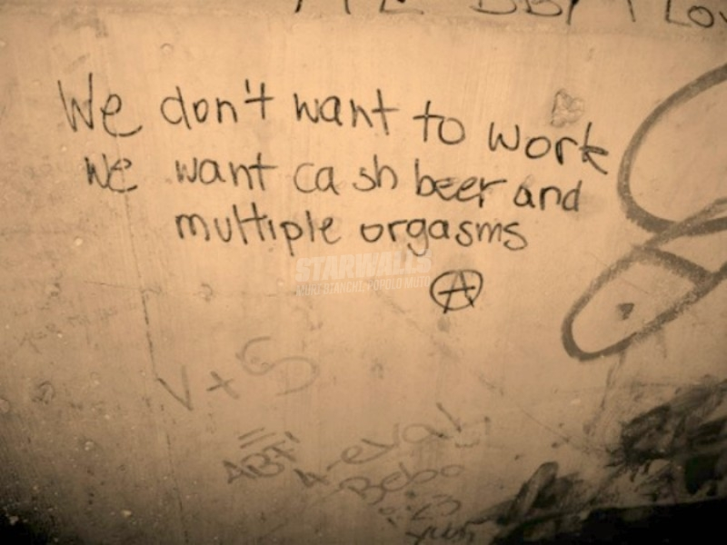 Scritte sui Muri What we want