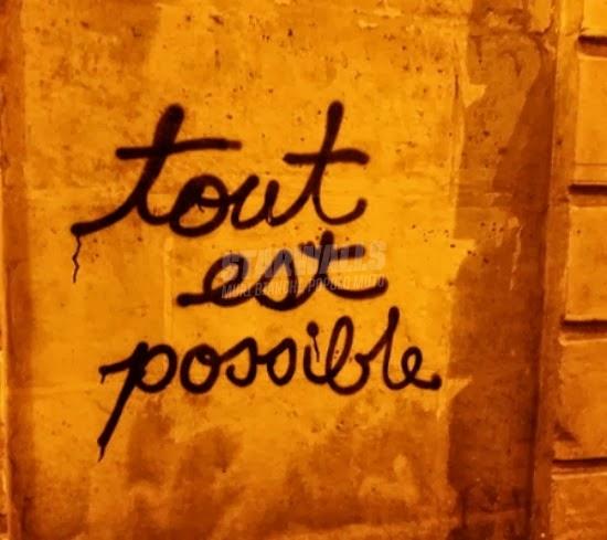 Scritte sui Muri Ottimismo parigino