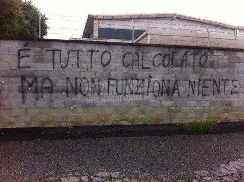 Scritte sui Muri Io non mi sento italiano